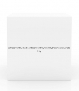 Vetropolycin HC Bacitracin Neomycin Polymyxin Hydrocortisone Acetate 1% Ophthalmic Ointment- 3.5g