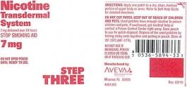 Nicotine Transdermal System Step 3 (Generic) - 7mg/24HR Patch 14ct