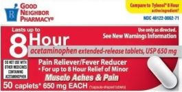 Good Neighbor Pharmacy Acetaminophen Extended Release 650mg Caplets-50ct