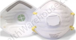 NIOSH Approved N95 Respirator Mask with Exhalation Valve - Pack of 10 Masks