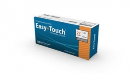"""EasyTouch Hypodermic Needle, 27 Gauge, 1.25"""" - 100ct ***DISCONTINUED***"""