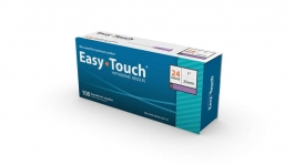 "EasyTouch Hypodermic Needle, 24 Gauge, 1"" - 100ct"
