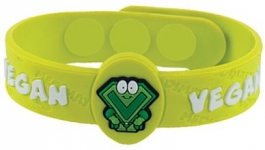 "MediMates Vegan Health Alert Wristband - ""Captain V"""