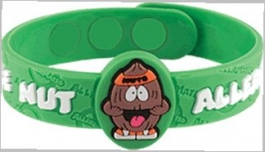 "AllerMates Tree Nut Allergy Alert Wristband - ""Nutso"""