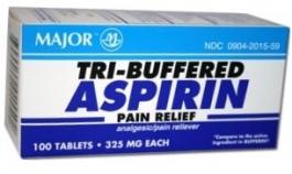 Tri-Buffered Aspirin 325mg - 100 Tablets