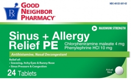 GNP® Sinus and Allergy Relief PE 24 Tablets