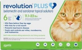 Revolution Plus for Cats (11.1 to 22lbs) (Green)- 3ct