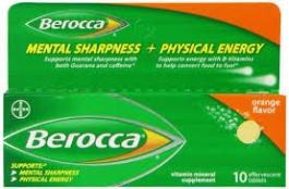 Berocca Effervescent Tablets, Orange- 10ct