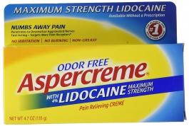 Aspercreme Maximum Strength Lidocaine Pain Relieving Creme- 4.7oz