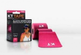 "KT TAPE Original Cotton Elastic Kinesiology Theraeputic Tape Pink - 20 Pre-Cut 10"" Strips"
