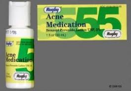 Rugby Acne Medication Benzoyl Peroxide Lotion USP 5% - 1oz