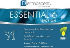 Dermoscent Essential 6 Spot-On Skin Care for Cats- 4 x 0.6ml