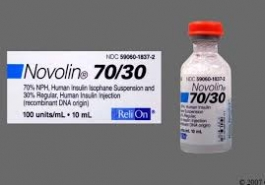 Novolin 70/30 Insulin 100U/mL - 10mL Vial