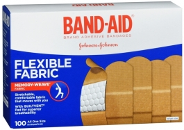 "Band-Aid Bandage Flexible Fabric 1"" x 3"" - 100/Box"