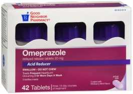 GNP® Omeprazole 20mg Tablet, Wildberry- 42ct