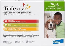Trifexis For Dogs 20.1 - 40lbs - 6 Count Pack(Green)