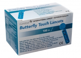 Genteel Butterfly Touch Lancets 100ct