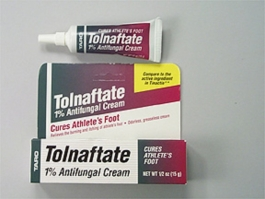 Tolnaftate Antifungal Athletes Foot Cream 1% 0.5 oz
