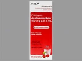 Major Children's Acetaminophen Oral Suspension 160 mg per 5 ml, 4 oz.
