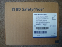 "BD SafetyGlide Syringe 23 Gauge, 3cc, 1"" Needle - 50ct Box"