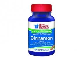 GNP® Cinnamon Supplement Capsules, 500mg- 100ct