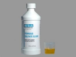 Ferrous Sulfate Elixer Iron Supplement - 16 fl. oz.