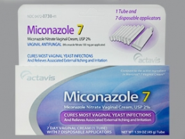 Miconazole Nitrate 2% Vaginal Cream (Actavis) with Disposable Applicators - 1.59 oz