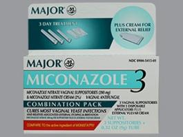 Miconazole Nitrate 2% 3 Day Vaginal Cream (Major) - 0.32 oz
