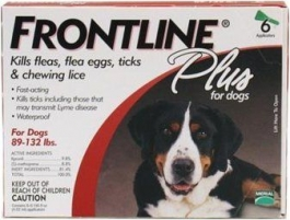 Frontline Plus for Dogs (89 - 132 lbs) - 6 Month Pack(Red)