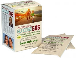 Glucose SOS Instant Blood Glucose Dissolve Powder 15g Green Apple 6 Packets