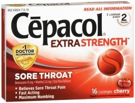Cepacol Sore Throat Extra Strength Lozenges, Cherry - 16ct