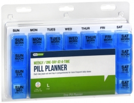 Ezy-Dose One-Day-At-A-Time Weekly Medication Organizer Tray Horizontal