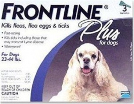 Frontline Plus for Dogs (23 - 44 lbs) - 3 Month Pack(Blue)