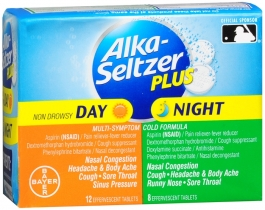 Alka-Seltzer Plus Day & Night Cold Formulas Effervescent Tablets- 20ct