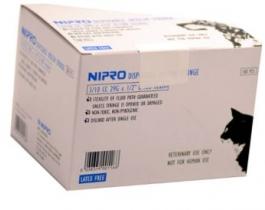 "Nipro Veterinary Insulin Syringe, 29 Gauge, 3/10 cc, 1/2"" Needle - 100 Count"