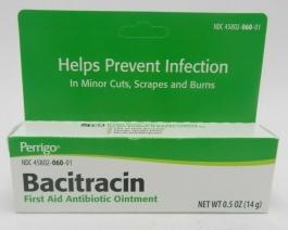 Perrigo Bacitracin Firstaid Antibiotic Ointment 15gm Tube