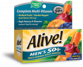 Nature's Way Alive! Men's 50+ Once Daily Multivitamin/Multimineral Dietary Supplement Tablet - 50ct