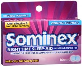 Sominex Original Formula Tablets, 16 Count