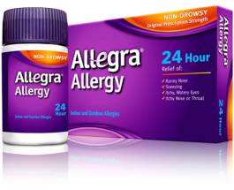 Allegra Allergy 24-Hour, 180mg - 30 Tablets