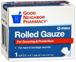 GNP First Aid Gauze Roll, 2in. x 4.1yds, 1 roll