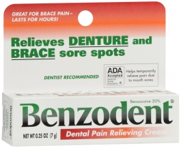 Benzodent Denture Pain Relieving Cream .25oz