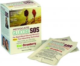 Glucose SOS Instant Blood Glucose Dissolve Powder 15g Kiwi-Strawberry 6 Packets