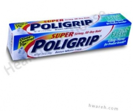 Super PoliGrip Denture Adhesive Cream (Ultra Fresh Minty Flavor) - 2.4 oz.***PRODUCTION ISSUES EXPECTED TO BE RESOLVED 4/6/15