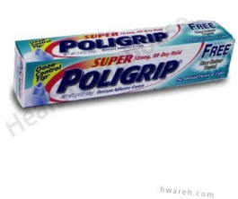 Super PoliGrip Free Denture Adhesive Cream - 2.4 oz.
