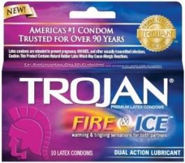 Trojan Fire & Ice Condoms- 10ct