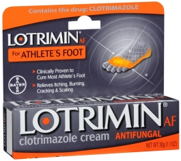 Lotrimin AF Clotrimazole Athletes Antifungal Cream, 1.1 oz
