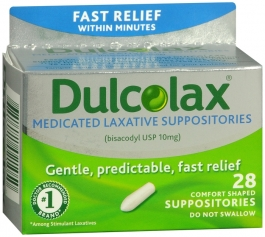 Dulcolax Laxative 10mg Suppositories - 28ct
