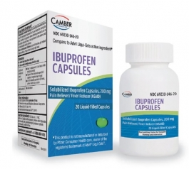 Camber Ibuprofen 200mg Liquid-Filled Capsules 20ct