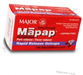 Mapap Extra Strength Rapid Release 500mg - 100 Gelcaps
