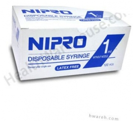 Nipro Syringe without Needle, 1cc, - 100 Count